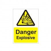 Danger Explosive Hazard Warning Sign