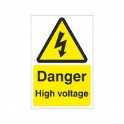 Danger High Voltage Electrical Hazard Warning Sign